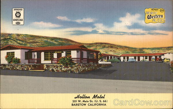card00199 fr - Hollon Motel - The Best Western Hotels Barstow, CA