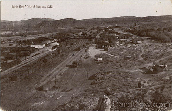 card00566 fr - Birds Eye View Of Barstow, CA
