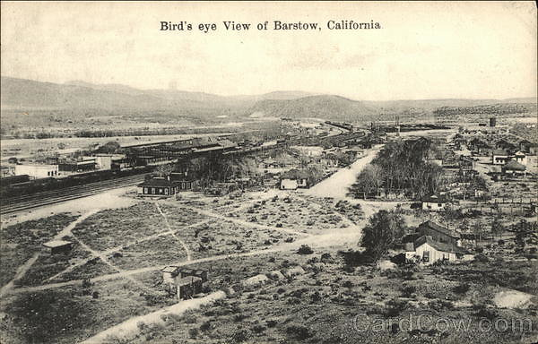 card00737 fr - Bird's Eye View of Town Barstow, CA